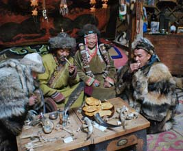 Mongolians meeting in Lunar new year